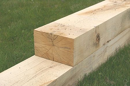 Oak Sleeper 2 4m 200mm X 100mm Fencing Supplies Garden Decking Amp Sheds Bournemouth