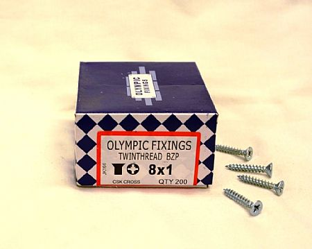 Zink plated Pozi Drive Screws