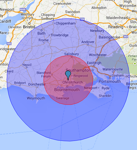 Parley Delivery Radius